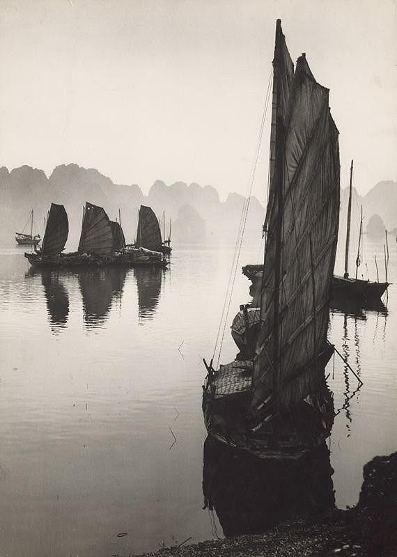 Ján Cifra - Vietnam. Rybárske bárky v Bedalongu III.