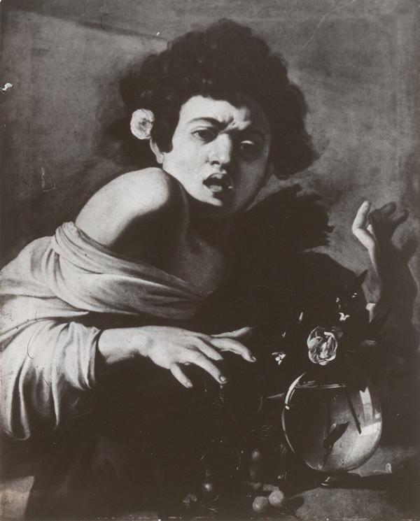 Vladimír Kordoš – Interpretácia obrazu Caravaggio - Chlapec uštipnutý škorpiónom