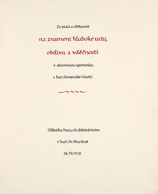Karel Plicka - Úvodný list albumu
