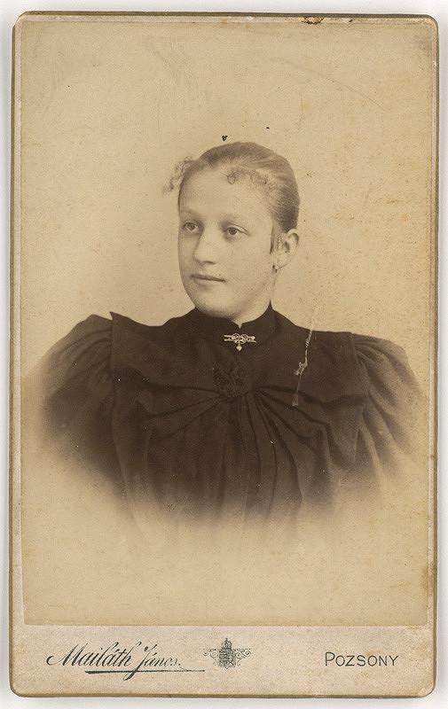 Ján Majláth – Portrét dámy s brošňou