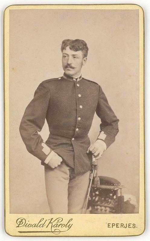 Karol Divald – Portrét muža v uniforme