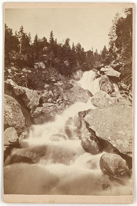 Karol Divald - Studenovodský vodopád (Vodopád Malého Studeného potoka)