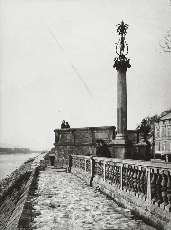 Pavol Poljak – Bratislavské nábrežie s výhliadkou na Dunaj