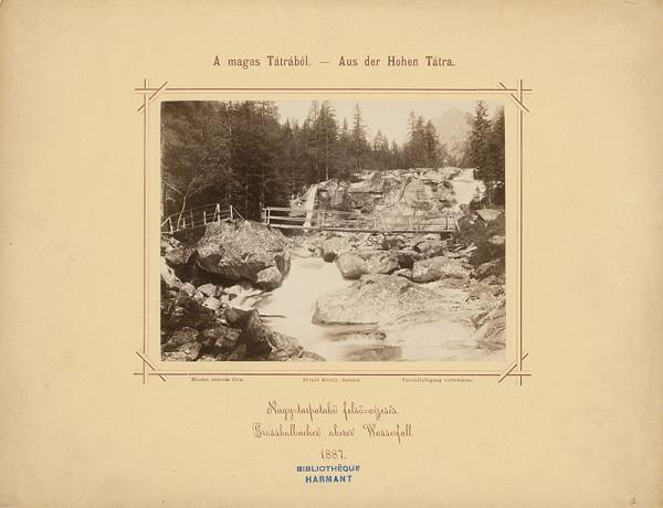 Karol Divald – Horný vodopád Veľkého Studeného potoka