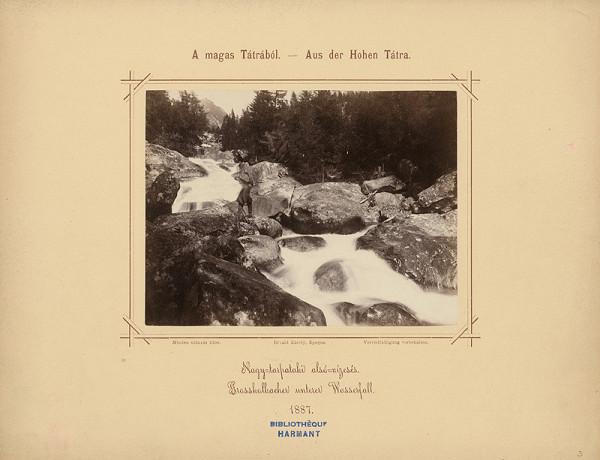 Karol Divald – Dolný vodopád Veľkého Studeného potoka