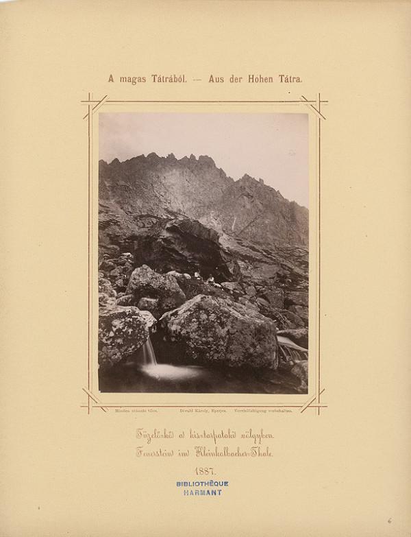 Karol Divald – Kremencové skaly v Malej Studenej doline