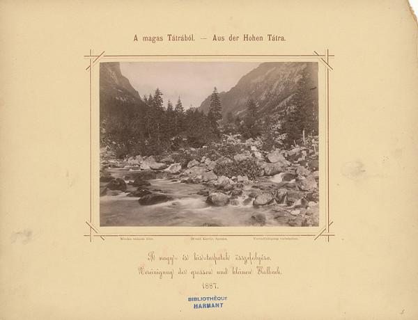 Karol Divald – Sútok Veľkého a Malého Studeného potoka