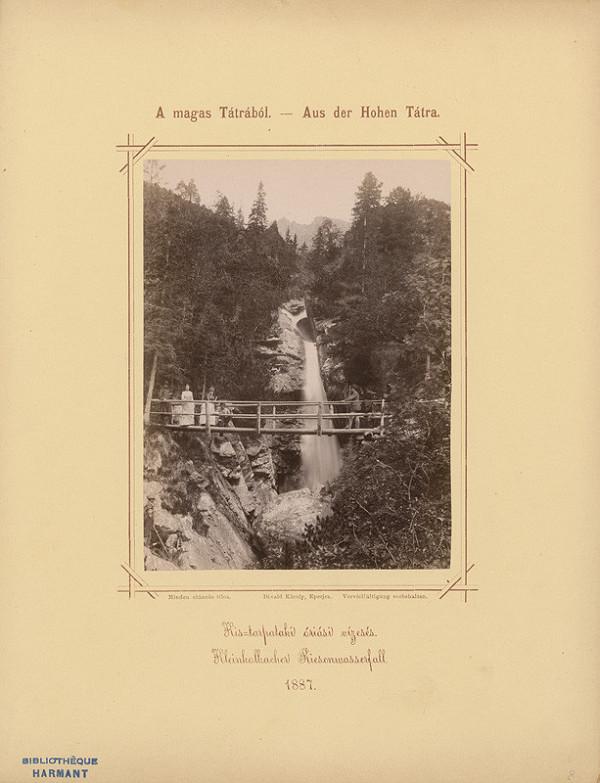 Karol Divald – Veľký vodopád na Malom Studenom potoku