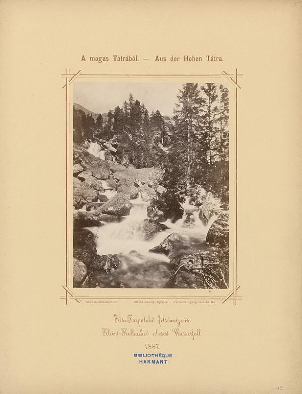 Karol Divald – Horný vodopád na Malom Studenom potoku