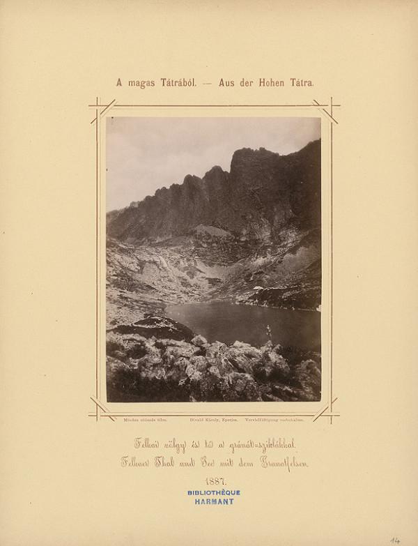 Karol Divald – Velická dolina a Velické pleso s granátovými skalami