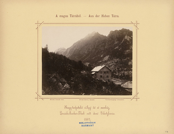 Karol Divald – Veľká Studená dolina s horskou chatou