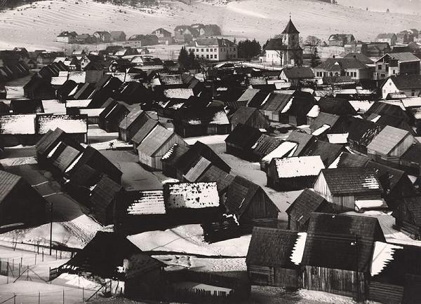 Martin Martinček - Liptovská dedina v marcovom daždi