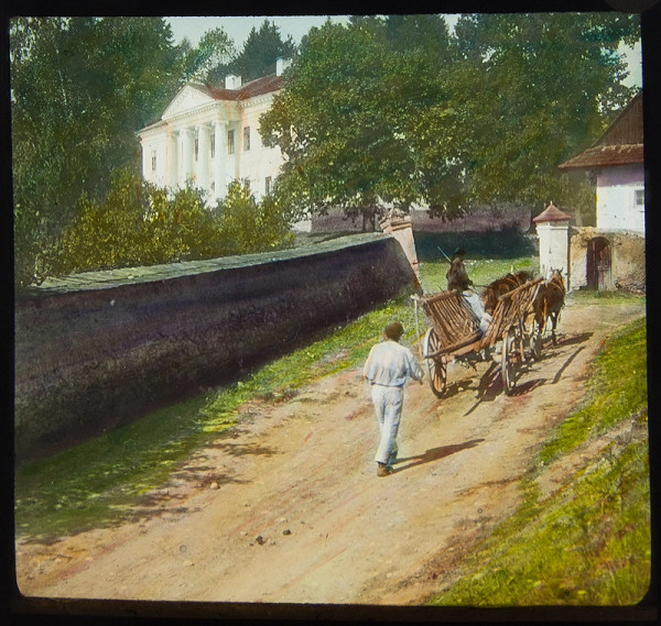 Karel Dvořák – Žebriňák se zámkem v pozadí