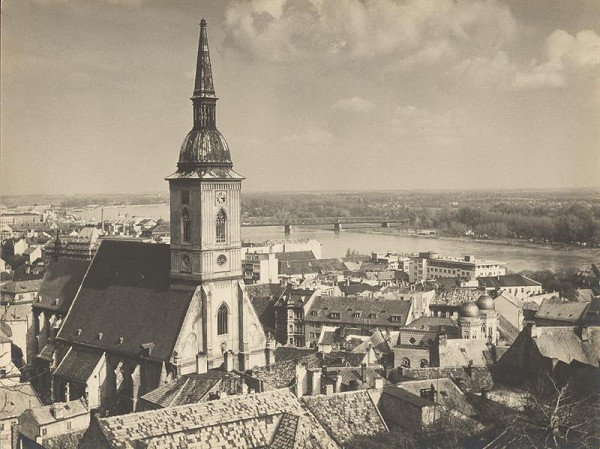 Ivan Kozáček - Pohľad na Bratislavu