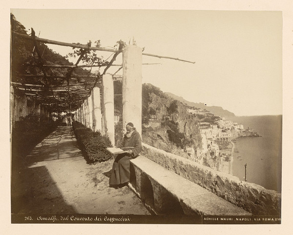 Achille Mauri - Amalfi z kláštora kapucínov