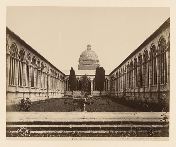 Enrico Van Lint - Pisa. Cintorín (Il Camposanto Monumentale). Vnútorný dvor