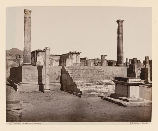 Giorgio Sommer - Pompeje. Apolónov chrám (Tempio di Apollo)