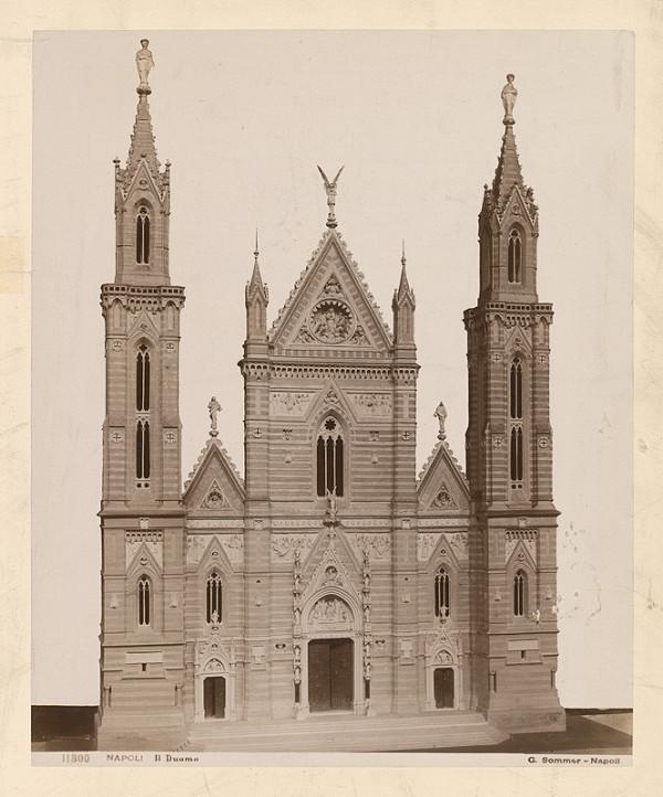 Giorgio Sommer – Neapol. Dóm (Il Duomo di Santa Maria Assunta). Model fasády