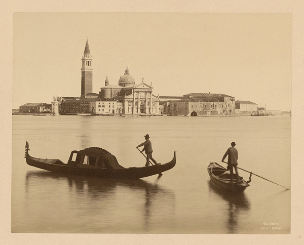 Neznámy autor – Benátky. Ostrov San Giorgio (Isola di San Giorgio Maggiore)