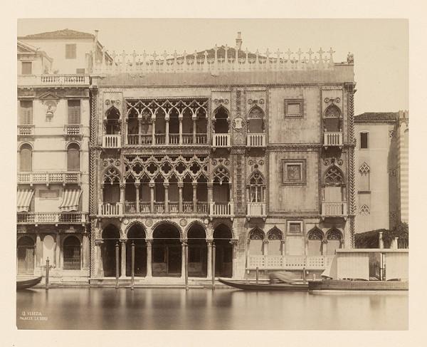 Carlo Naya – Benátky. Zlatý palác (Palazzo Ca' d'Oro)
