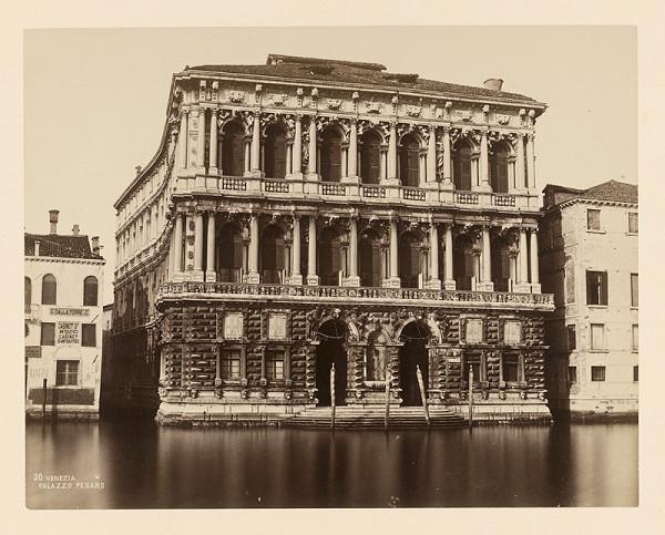 Neznámy autor – Benátky. Palác Pesaro (Palazzo Ca'Pesaro)