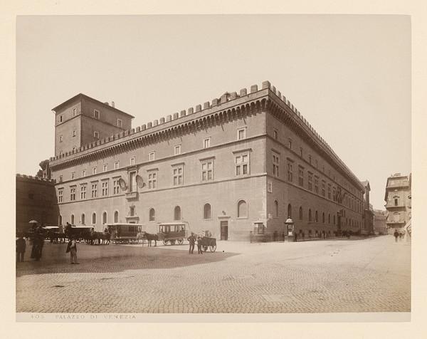 Neznámy autor – Rím. Palác Venezia (Palazzo Venezia)
