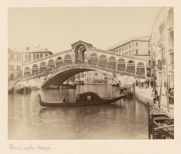 Neznámy autor – Benátky. Most Rialto (Ponte di Rialto)