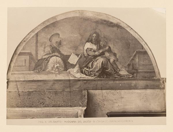 Neznámy autor – Florencia. Chiesa  SS. Anunziata Freska Madona del Saco od Andreu del Sarto