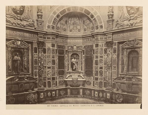 Neznámy autor – Florencia. Kaplnka Mediciovcov. Interiér Kaplnky princov (Cappelle Medice, Cappella dei Principi)