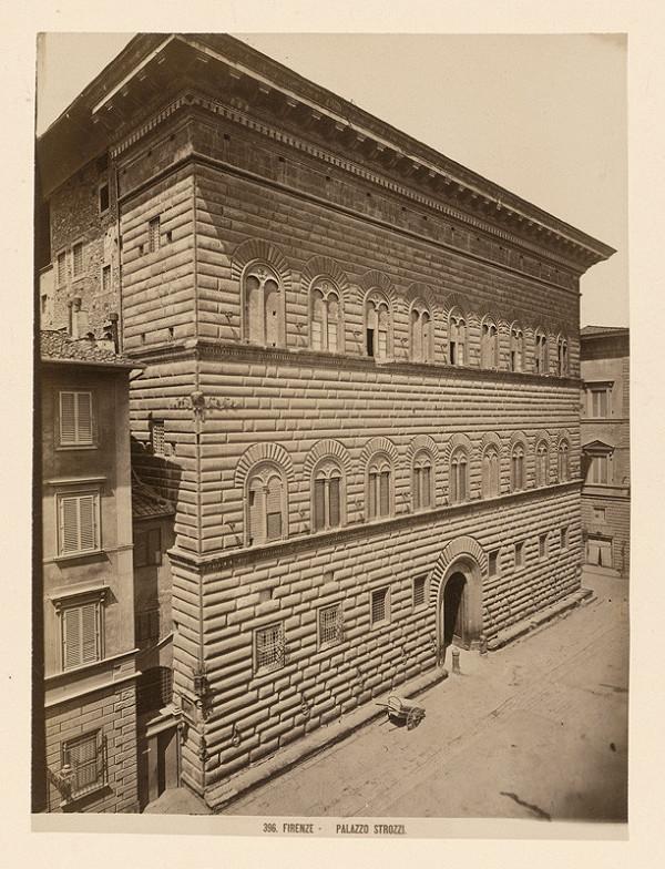 Neznámy autor - Florencia. Palác Strozzi (Palazzo Strozzi)