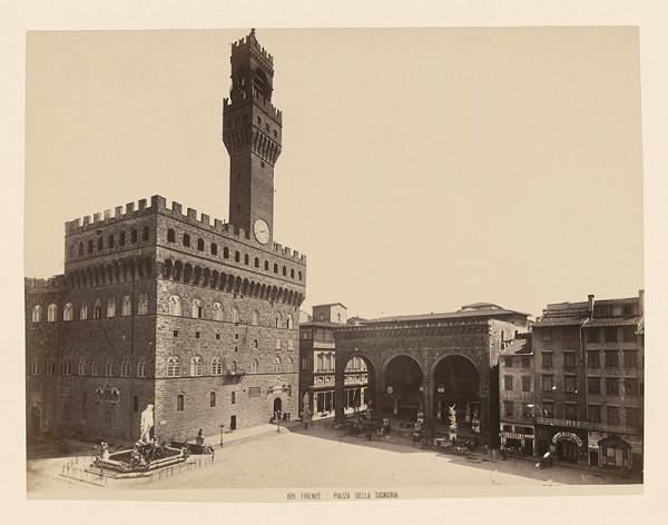 Neznámy autor – Florencia. Námestie della Signoria (Piazza della Signoria)