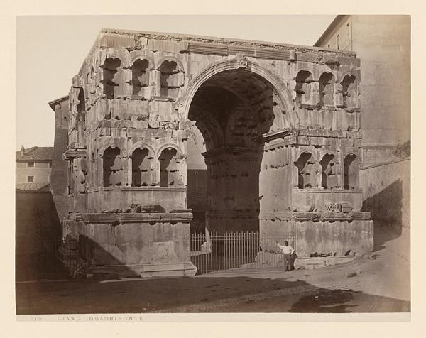 Neznámy autor - Rím. Janusov oblúk (Arco di Giano)