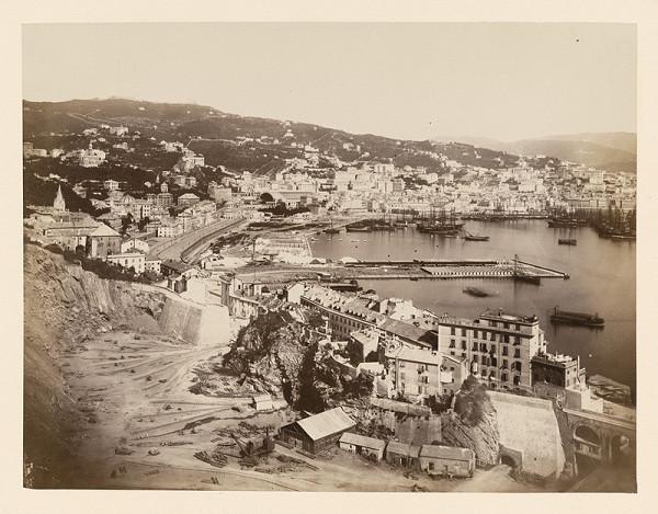 Neznámy autor - Prístav s kameňolomom v popredí