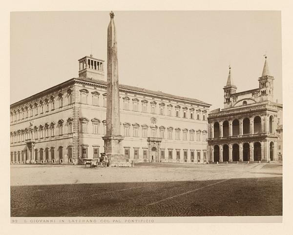 Neznámy autor – Rím. Námestie di San Giovanni in Laterano (Piazza di San Giovanni in Laterano)