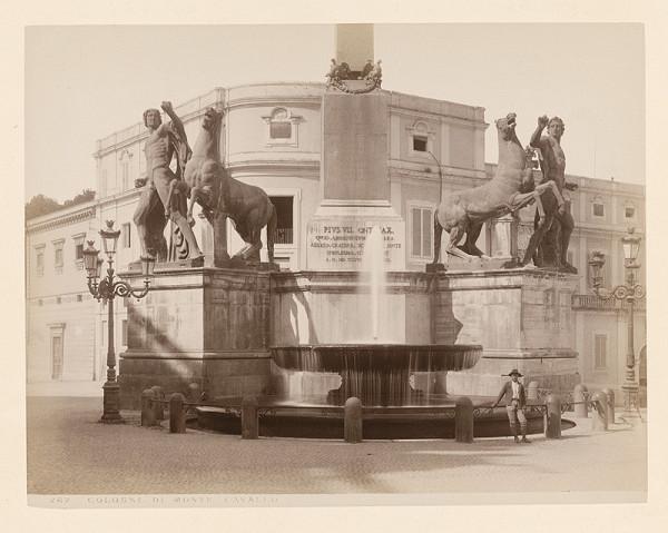 Neznámy autor – Rím. Fontána di Monte Cavallo (Fontana di Monte Cavallo)