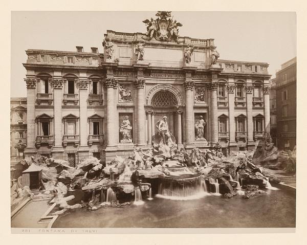 Neznámy autor - Rím. Fontana di Trevi (Fontana di Trevi)