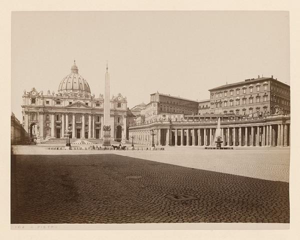 Neznámy autor - Rím. Chrám sv. Petra (Basilica di San Pietro in Vaticano)