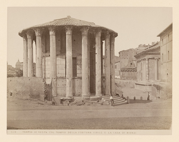 Neznámy autor - Rím. Vestin chrám (Tempio di Vesta)