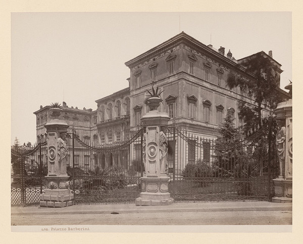 Neznámy autor – Rím. Palác Barberini (Palazzo Barberini)