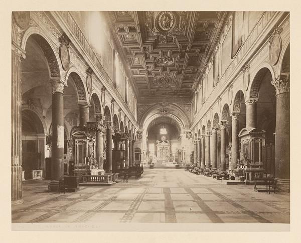 Neznámy autor – Rím. Bazilika di Santa Maria in Aracoeli (Basilica di Santa Maria in Aracoeli). Interiér