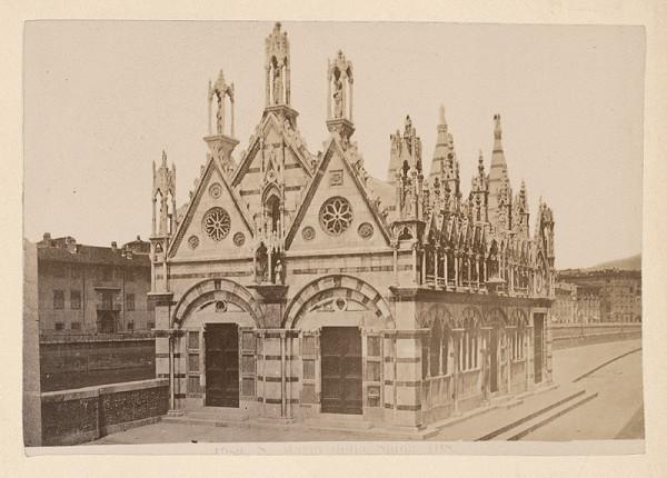 Neznámy autor – Pisa. Kostol Santa Maria della Spina (Chiesa di Santa Maria della Spina)