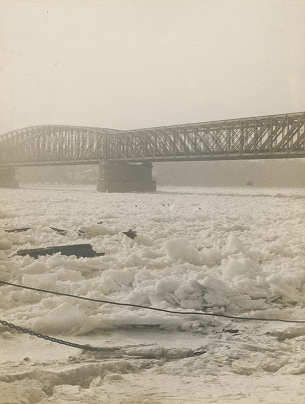 Miloš Dohnány - Ľadové kryhy na Dunaji vBratislave