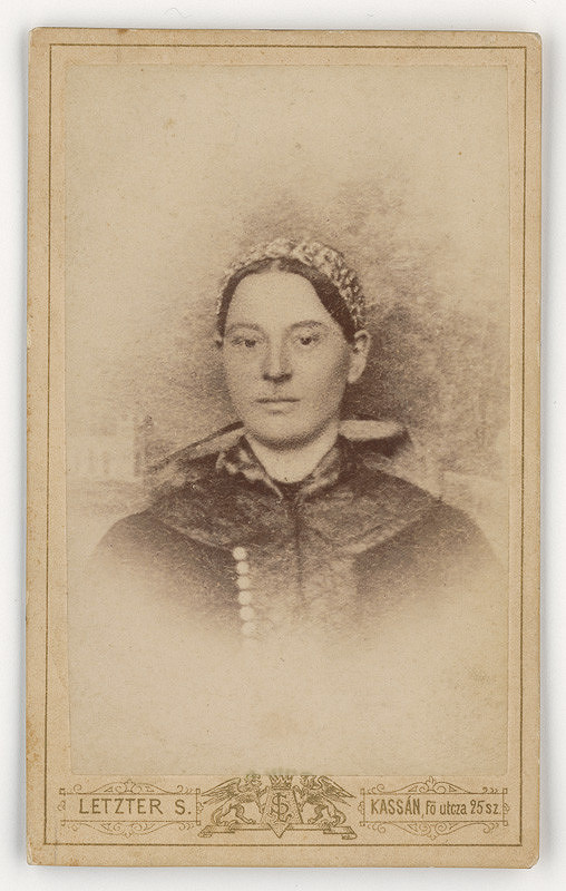 Alexander / Šimon Letzter – Portrét ženy s vrkočom na hlave