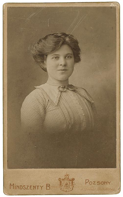 Béla Mindszenty – Portrét ženy v prúžkovaných šatách