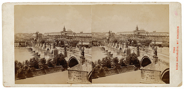Neznámy autor – Praha. Karlov most s Hradčanmi a Malou Stranou