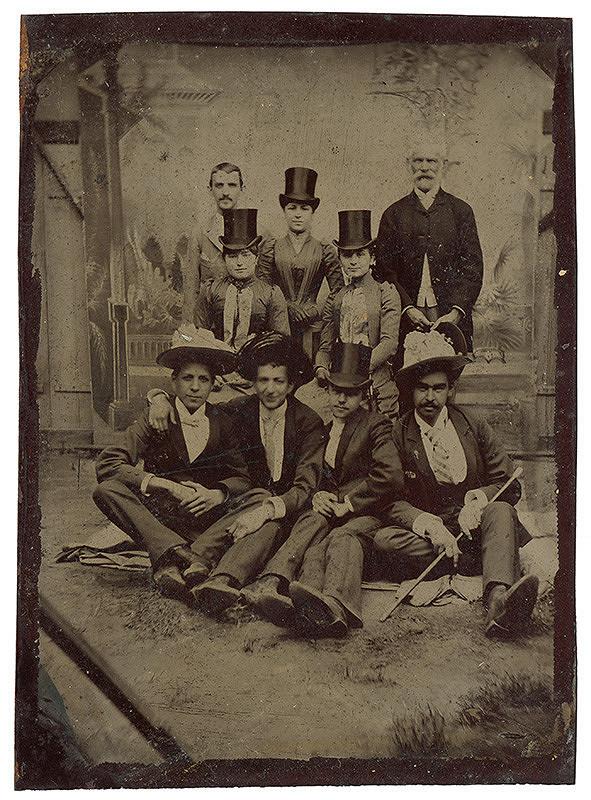 Neznámy autor – Žartovný skupinový portrét