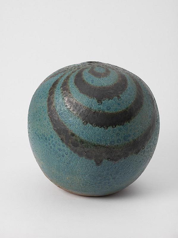 Jozef Sušienka - Modrá pruhovaná váza
