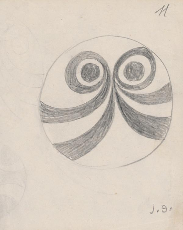 Jozef Sušienka - Malá kresba. Variant pásikáveho taniera