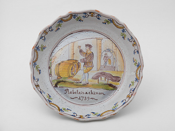 Francúzsky majster z 18. storočia – Tanier Rabelais a chinon