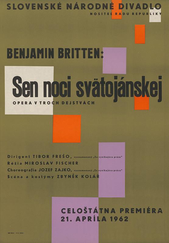 Slovenský autor z 20. storočia – Benjamin Brittten: Sen noci svätojánskej